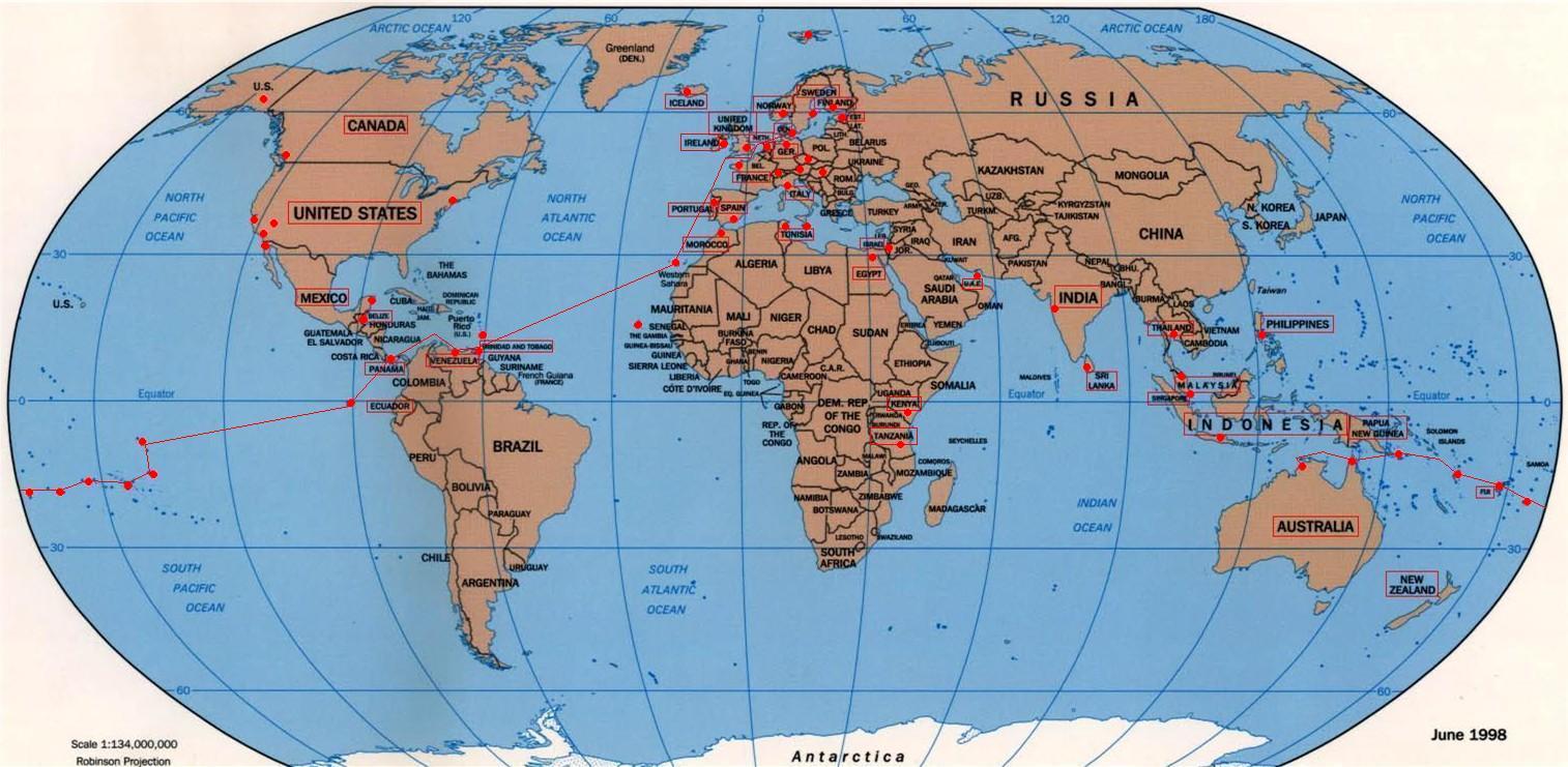 kina på verdenskort